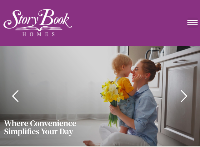 StoryBook Homes Website