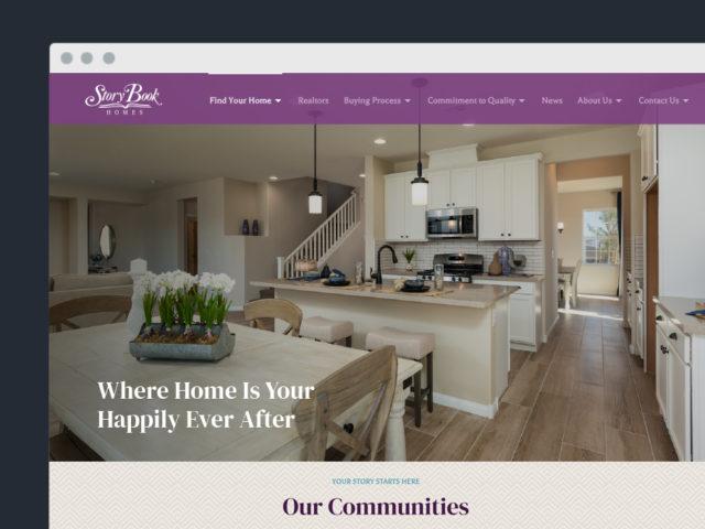 StoryBook Homes Website